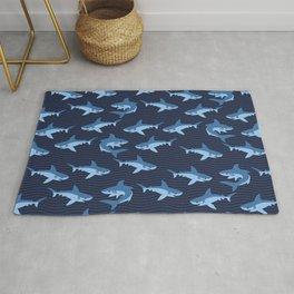 Blue Sharks Rug