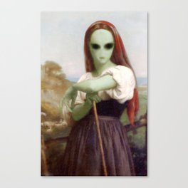Bouguereau's Alien Shepherdess Canvas Print