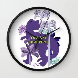 you are dino-mite Wall Clock