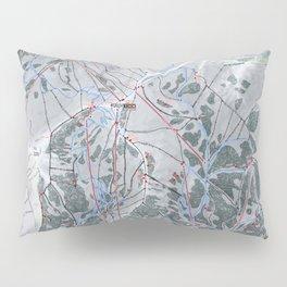 Snowbird Resort Trail Map Pillow Sham