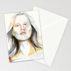 Blond girl Stationery Cards