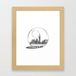 LONDON City in a Glass Ball Framed Art Print