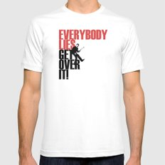Everybody Lies Mens Fitted Tee White MEDIUM