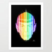 spock Art Prints featuring Spock by Leif Jones
