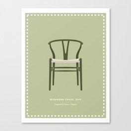 Danish Modern Wishbone Chair Canvas Print