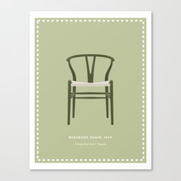 Danish Modern Wishbone Chair Canvas Print