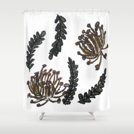 Charcoal Speldekussing Shower Curtain