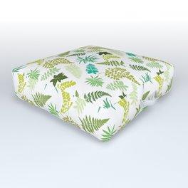 Woodland Ferns Illustrated Pattern Outdoor Floor Cushion