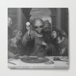 Alien Jesus Metal Print
