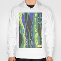 river Hoodies featuring River by LivingCanvasDesigns