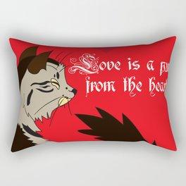 Love is a purr from the Heart Rectangular Pillow