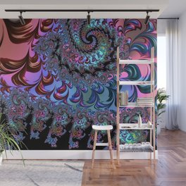 Metallic Fractal Wall Mural