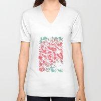 ponyo V-neck T-shirts featuring Ponyo by drawnbyhanna