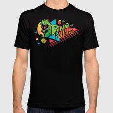 Dino Rollers Logo LARGE Mens Fitted Tee Black