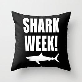 Shark week (on black) Throw Pillow