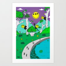 Day & Night Trippy Art Print