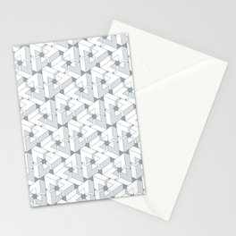 Triangle Optical Illusion Gray Lines Medium Stationery Cards