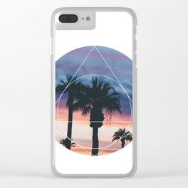 Sunset Palms - Geometric Photography Clear iPhone Case