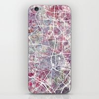 madrid iPhone & iPod Skins featuring Madrid map by MapMapMaps.Watercolors