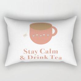 Stay Calm and Drink Tea Rectangular Pillow