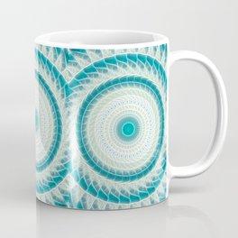 Cyan Glow Kaleidoscope 15 Coffee Mug