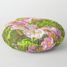 Sun Soaked Roses Floor Pillow
