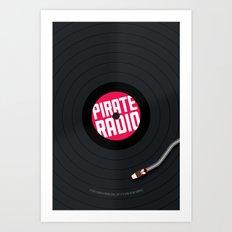Pirate Radio poster (black) Art Print