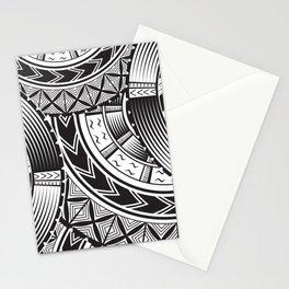 UrbanNesian Black and White Tatau Stationery Cards