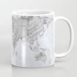 world map music vintage 2 Coffee Mug