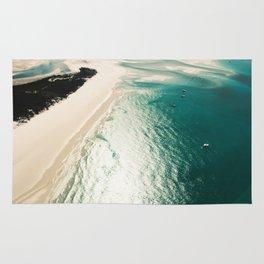 whitsunday island aerial Rug