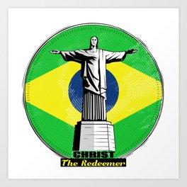 Christ The Redeemer Brazil Art Print