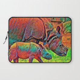 AnimalColor_Rhino_002 Laptop Sleeve