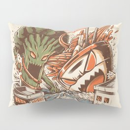 Kaiju Food Fight Pillow Sham
