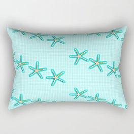 Aqua Starfish Rectangular Pillow