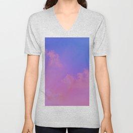 Pink And Blue Sky Unisex V-Neck