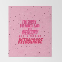 Mercury Retrograde pt. 2 Throw Blanket