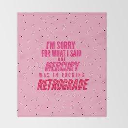 Mercury Retrograde pt. 2 Throw Blanket
