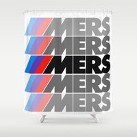 moto Shower Curtains featuring DgM MERS MOTO by DgMa