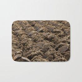 plowed land, close-up Bath Mat