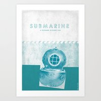 submarine Art Prints featuring Submarine by Ben Mcleod