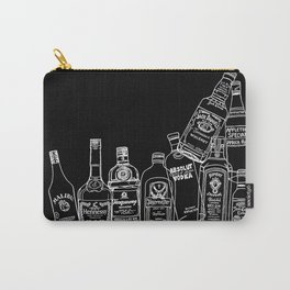 Pop Bottles Black Carry-All Pouch
