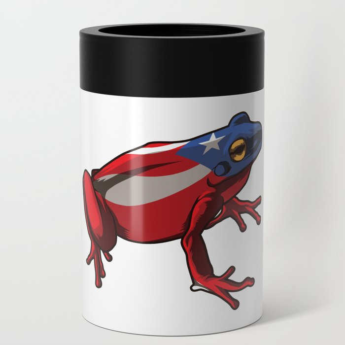 Proud Boricua Flag Can Cooler By