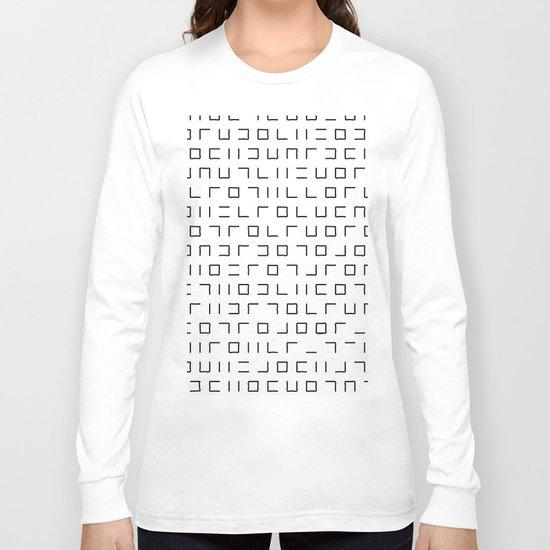 Code Breaker - Abstract, black and white, minimalist artwork Long Sleeve T-shirt
