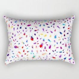 Bugs, Colorful Creepy Crawlies Rectangular Pillow