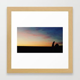 A Photographer Captures a Los Angeles Sunset Framed Art Print