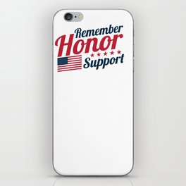 Remember Honor Support Military Appreciation iPhone Skin