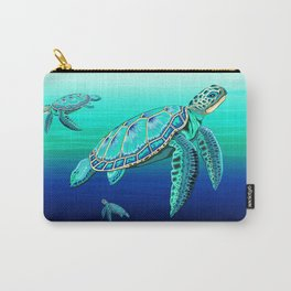 Sea Turtle Turquoise Oceanlife Carry-All Pouch