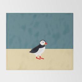 Atlantic Puffin Throw Blanket