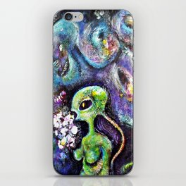 The Female from Mars iPhone Skin