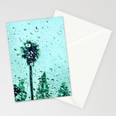 Trees amidst the rain drops. Stationery Cards